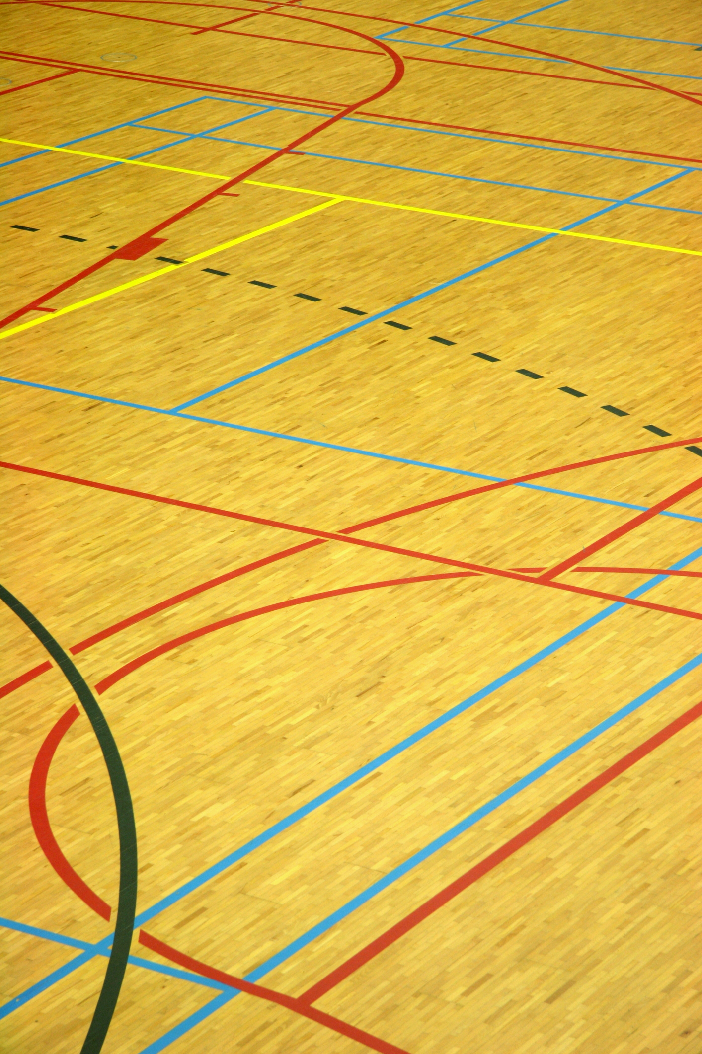 Court marking fitness functions for Sports flooring