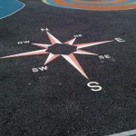 playground markings compass