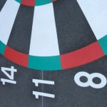 Dartboard close up1