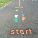 Playground Markings start