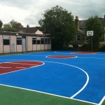 Basketball Courts 'before' Solid Full Court Painting