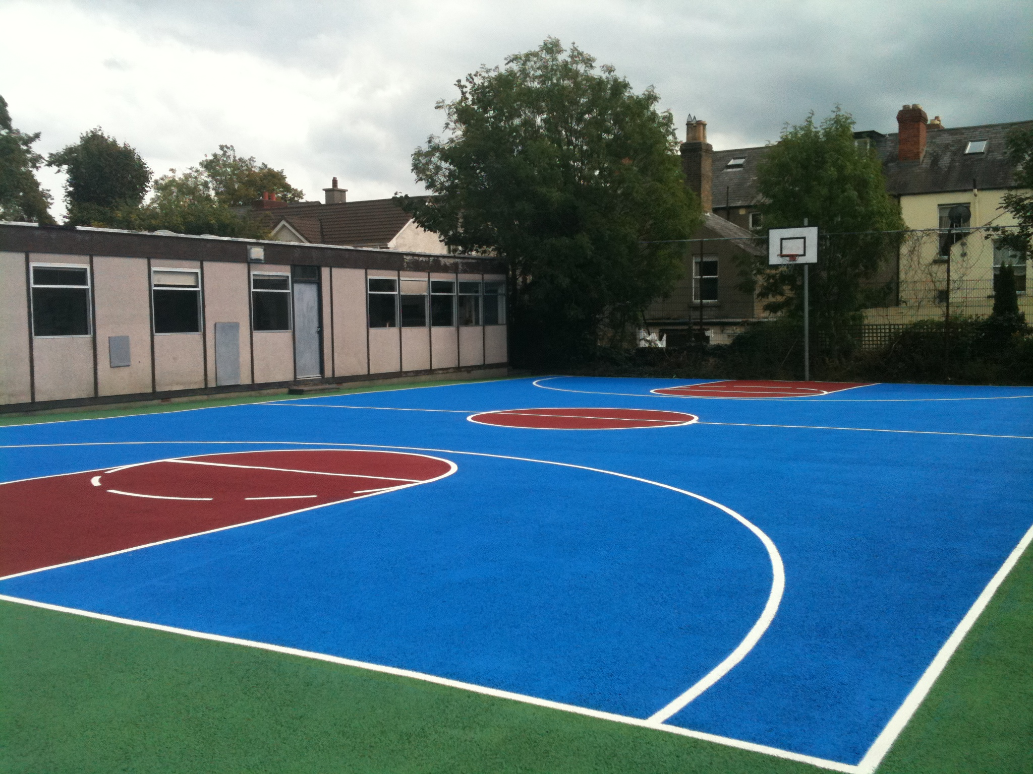 Solid full court painting after fitness functions for Sport court paint