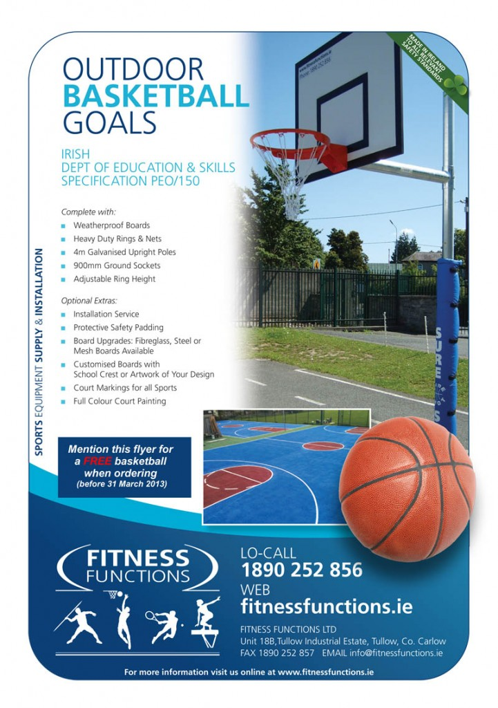 School Outdoor Basketball Set