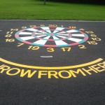 Thermoplastic Playground Markings - Dart Board