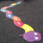 Thermoplastic Playground Markings - Alpha Snake