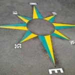 Thermoplastic Playground Markings - Compass