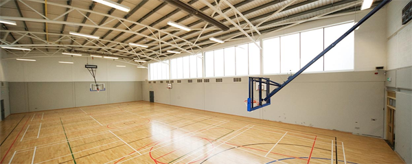 Ceiling mounted basketball Sports Halls