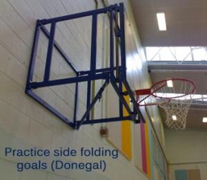 Practice side folding basketball